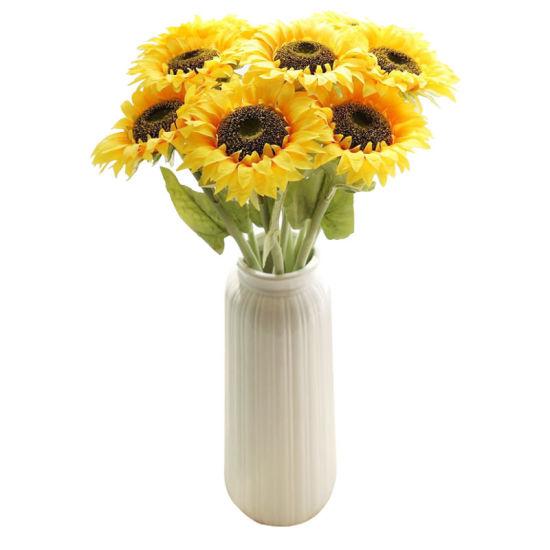Artificial Sunflower Bouquet, 7 Flowers Per Bunch, 2 Bunches Per Pack