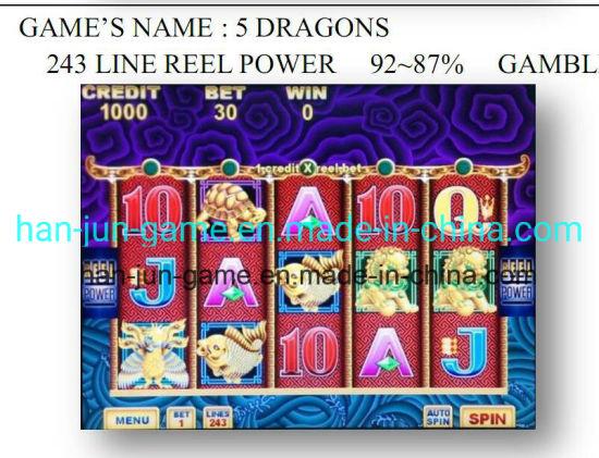 5 Dragons-243 Line Reel Power -Gambling Game Machine Slot Game Machine