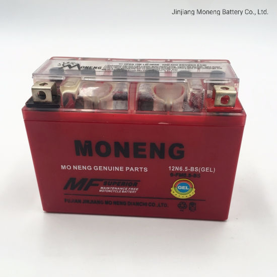 12n6.5L-BS Power Supply Motorcycle Spare Part Wholesale 12V Battery