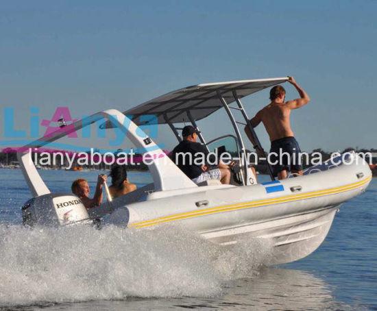 Liya 6.6m High Quality Rib Boat Fiberglass Catamaran Sailing Yacht