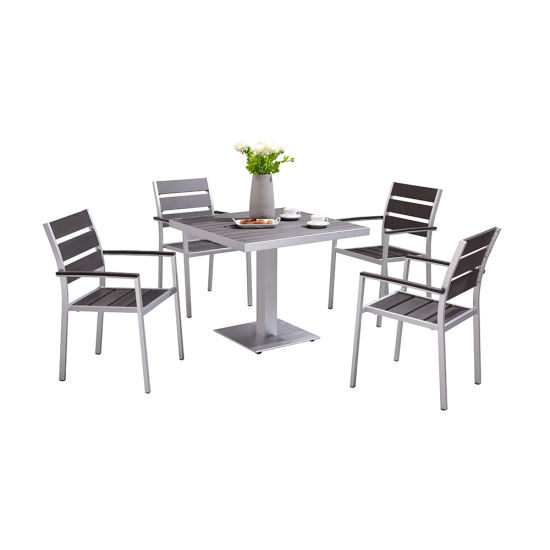 Modern Patio Dining Table and Chair Set Outdoor Garden Furniture