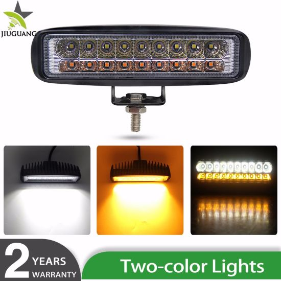 Wholesale 6.3inch Waterproof Spot Slim High Power 54W Mini ATV Light DRL Two Color Car Light Auto LED Work Lamp
