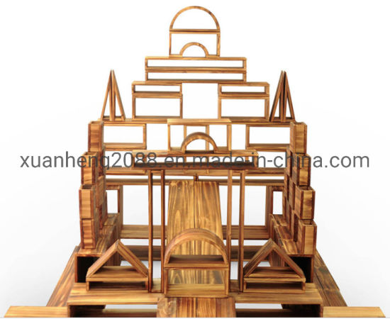Popular Large Hollow Carbonization Pyramid Unit Blocks Educational Outdoor Toys