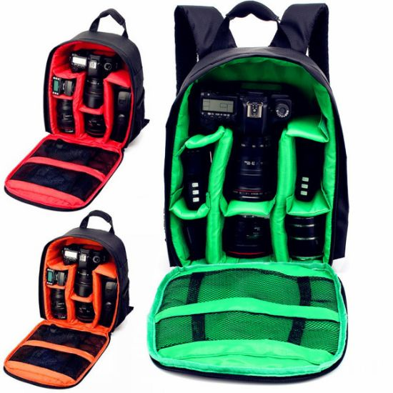 Waterproof Environmental Protection Nylon Black DSLR Shoulder Camera Bag