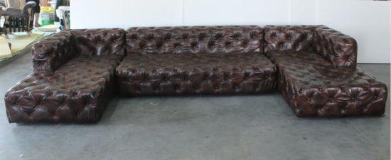High End Ktv Sofa On Leather Clic L Shape Tde 03