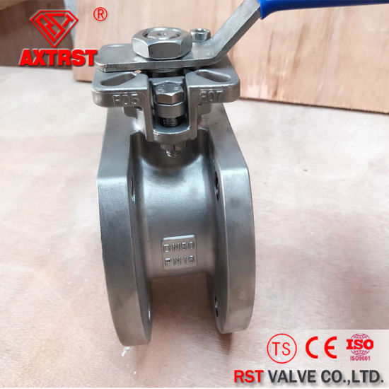 1PC Flanged Stainless Wafer Ball Valve with ISO5211 (PN16/40) pictures & photos