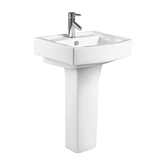 AMP8510 Wc Hand Wash Ceramic Pedestal Basin