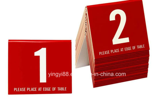 China Top Selling Acrylic Plastic Table Numbers China Plastic - Table tent numbers plastic
