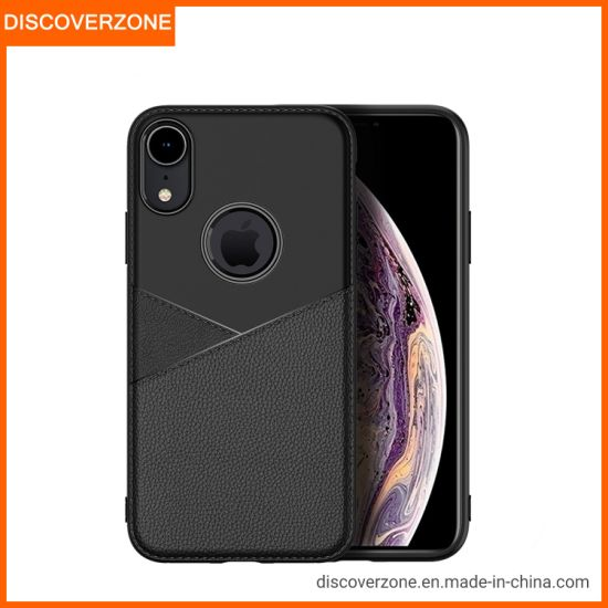 Ultra Thin Anti-Fall TPU+Leather Phone Cover I6 I7 I8 Ipx Max Classical for Men