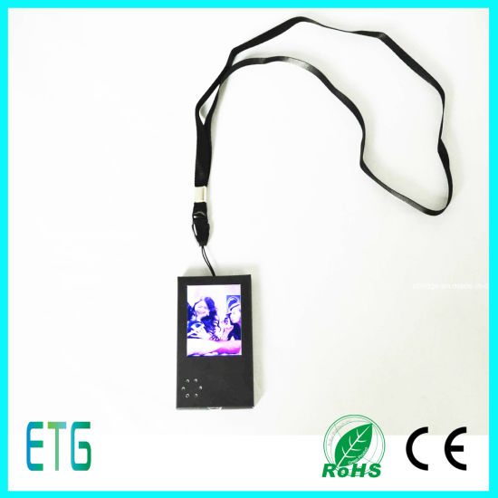". 2.4"" Different Style, A5 Size, Name Card Size, Have USB Port Cover LCD Greeting Card pictures & photos"