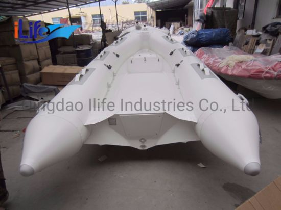 Ilife (CE) 14FT 4.3m 7 Persons Lake Fishing Inflatable Boat for Water Games Boat Made in China