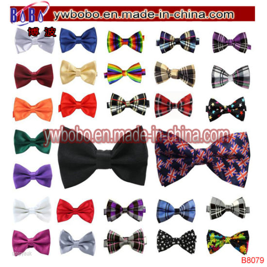 Mens 5 Pack Bowtie Solid Color Pattern Necktie Pre-Tied Adjustable Formal Bowtie