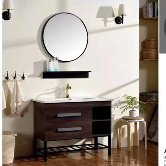 Unique Design Mdf Bathroom Vanity With Round Mirror China Bathroom Cabinet Bathroom Furniture Made In China Com