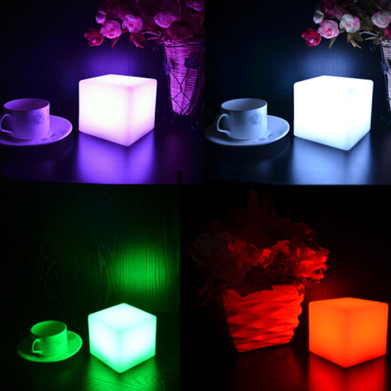 RGB LED Decorative Lights Cube Design for Bed Room Furniture Bedroom Set pictures & photos