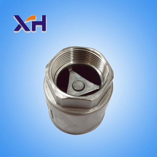 201 Stainless Steel Vertical Check Valve Dn32 pictures & photos