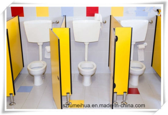 Beautiful Small Size Toilet Division Partition For Children/ HPL Partition