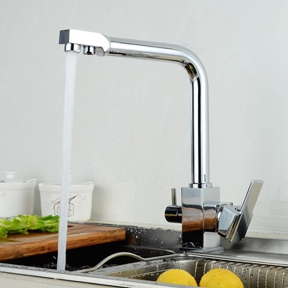 FLG 3 Way Water Tap Dual Lever Kitchen Taps pictures & photos
