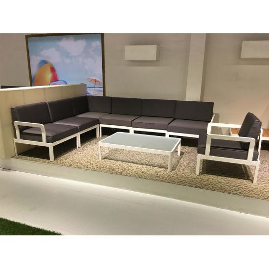 Aluminum Frame Garden Outdoor Furniture Sofa Set