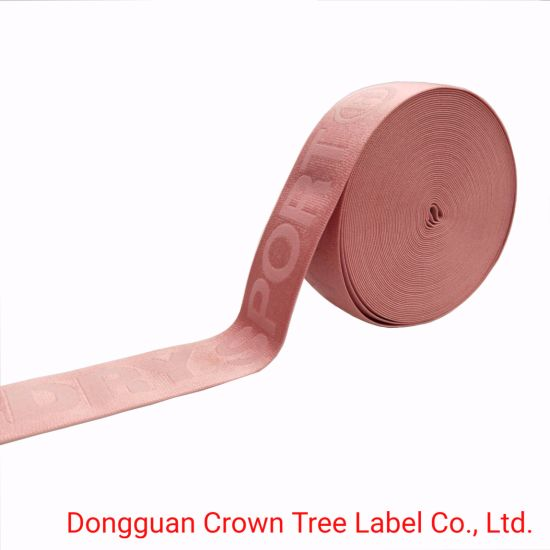 New Design Pink Color Elastic Ribbon for Waistband with High Quality