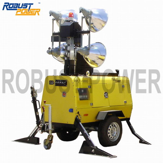 Hydraulic Portable Soundproof Mobile Outdoor Lighting Tower