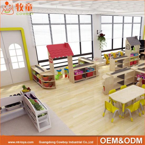Customized Daycare Wooden Nursery Furniture Sets Kindergarten School