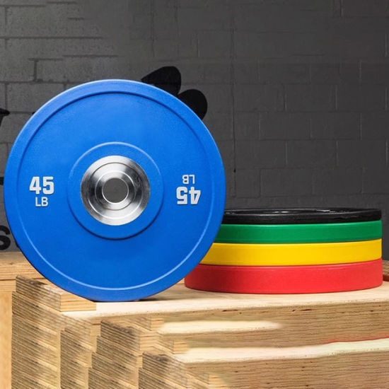 Striped 28mm Weight Lifting Weightlifting Hi Temp Competition Disc Steel Kg Gym American Set Rubber Weight Bumper Plates pictures & photos
