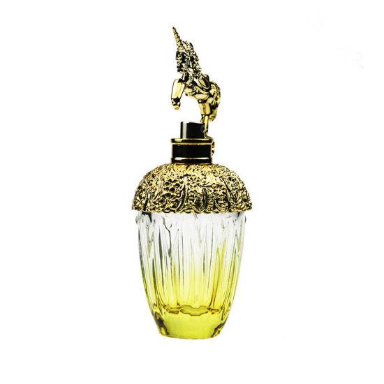 80ml Golden Silk Printing Unicorn Glass Perfume Bottle Empty Spray Bottle