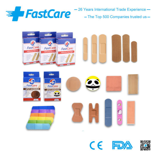 Fastcare Wound Care First Aid Bandage with Ce FDA ISO