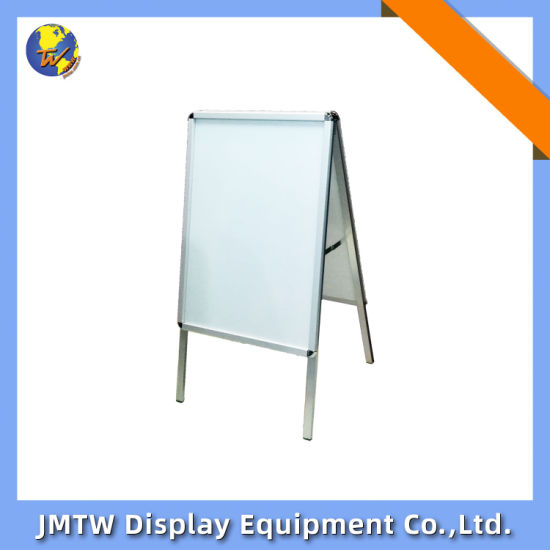 Aluminum Single Sided or Double Sided a-Frame Snap Sign Poster Stand with Round Corner