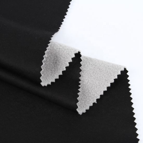 Polyester Weft Knitting Suede Fabric Bonded with Polyester Fleece