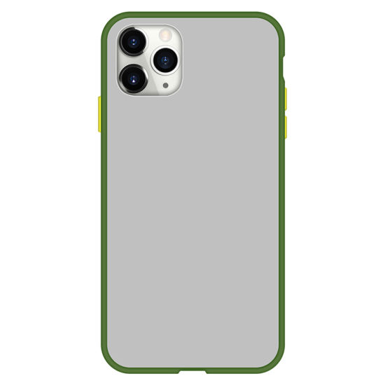 Hot Selling Smartphone Back Cover Compatiable with iPhone Samsung Huawei Xiaomi TPU+PC Translucent Anti-Oil Soft Phone Case