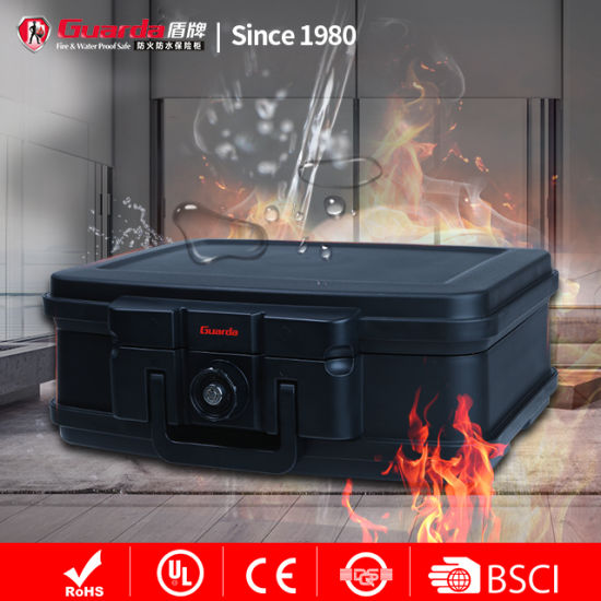 Excellent Home Small Fireproof Cash Box Waterproof 0.25cuft