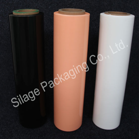 Black/Orange Silage Wrap Film, 500mm*25mic*1800m Silage Wrap pictures & photos