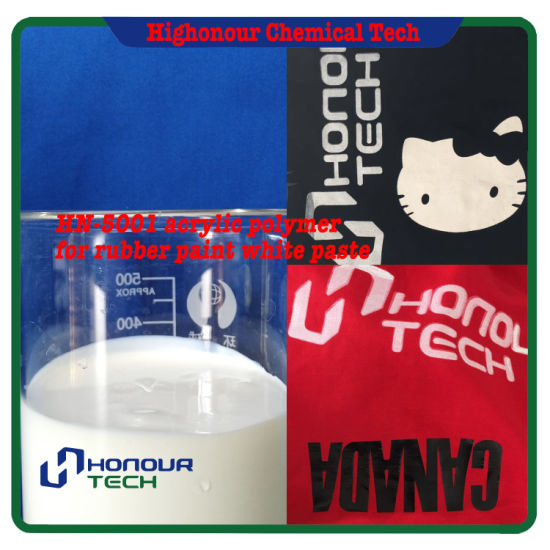 Water Based Styrene Acrylic Polymer Emulsion for Screen Printing White Paste