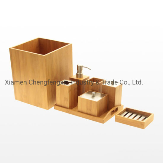 China High Quality 8 Pieces Antique Luxury Bamboo Bathroom