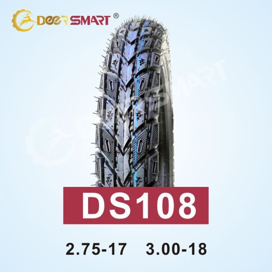 China Top Selling Philippines Motorcycle Tires Mixed Roadbed Series Tire Size 3.00-18 Pattern Ds108 (TT/TL) Duro Motorcycle Tyre 3.00 18