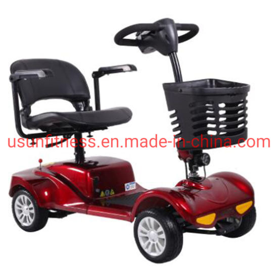 4 Wheels Electric Mobility Scooter Folding Handicap Vehicle Scooters for Disabled Helper