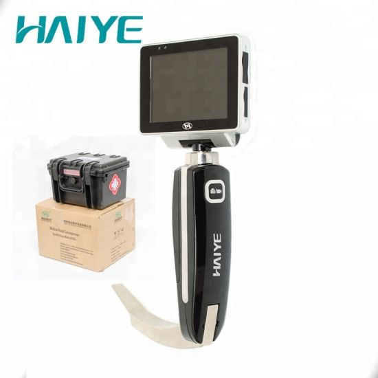 Hospital Instrument with FDA, ISO13485 Certificates USB 8 GB Memory Card Video Laryngoscope