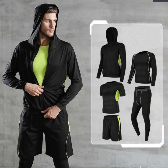 Men Yoga Wear Sport Clothing 5 Pieces Yoga Sports Wear Wholesale