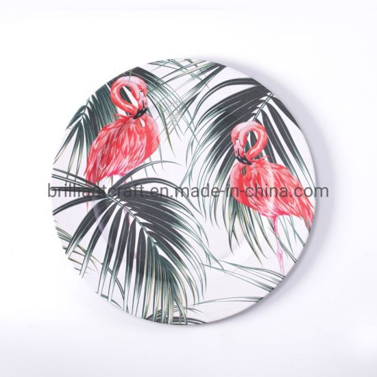 Christmas Customized Swan Print Serving Plate for Hotel