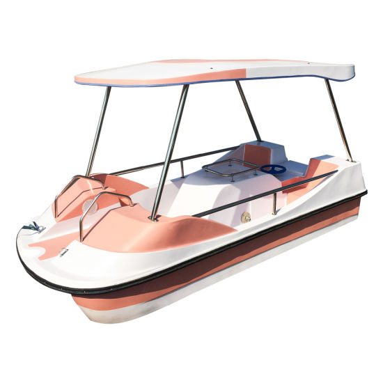 2019 China Factory Wholesale Commercial Fiberglass Pedal Boat for Safety