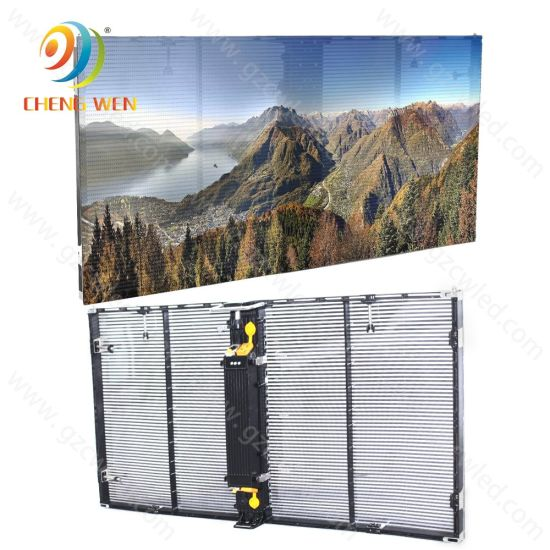 P3.9 Rental Transparency Glass 1m* 0.5m Transparent Wall LED Display Screen