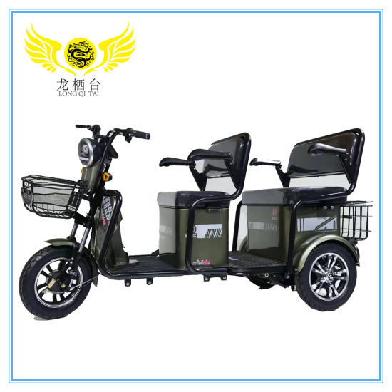 The Safest and Most Popular Three-Person Family Electric Tricycle for Adult Passengers