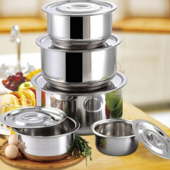 Stainless Steel Cookware Set Without Handle Ss 201 Material