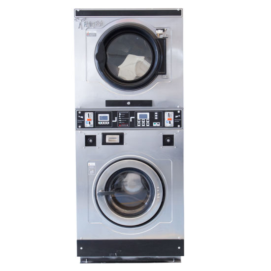 Customized Metal Gas/Steam/Electrical Heated Cloth/Garments Tumble Industrial Laundry Coin Operated Washer and Dryer for Commercial/Hotel/Hospital/Hotel/School