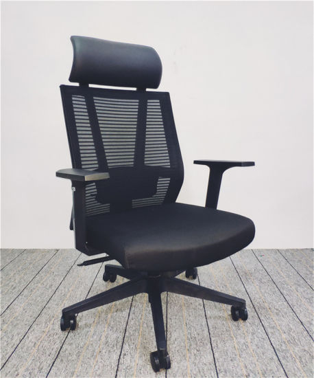 New Model Design up and Down Armrest High Back Adjustable Mesh Executive Office Chair with Lumbar Support (6126A)