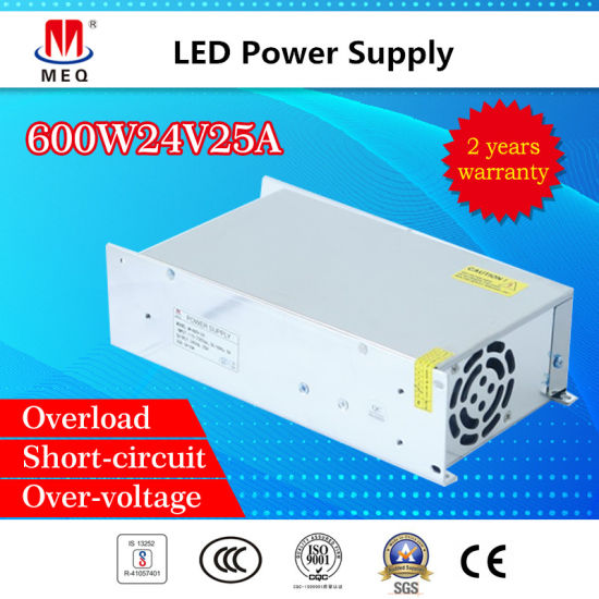 China 24V 25A Switching Power Supply 600W SMPS - China SMPS, LED ...