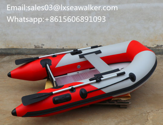 Al230 Inflaltable Fishing Boat PVC Rowing Rescue Life Boat Yacht