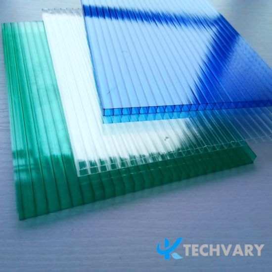 China 4mm/6mm/8mm/10mm/12mm Colored Twin-Walls Hollow Polycarbonate ...