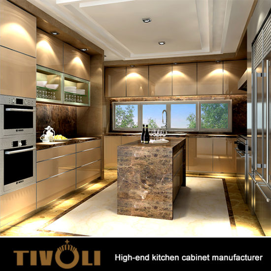 Fancy Kitchen Cabinets Design With Top Quality Level TV 0037